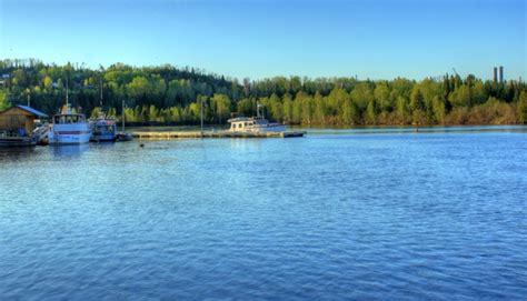 boat launch lake ontario boat launch at lake nipigon ontario canada free stock