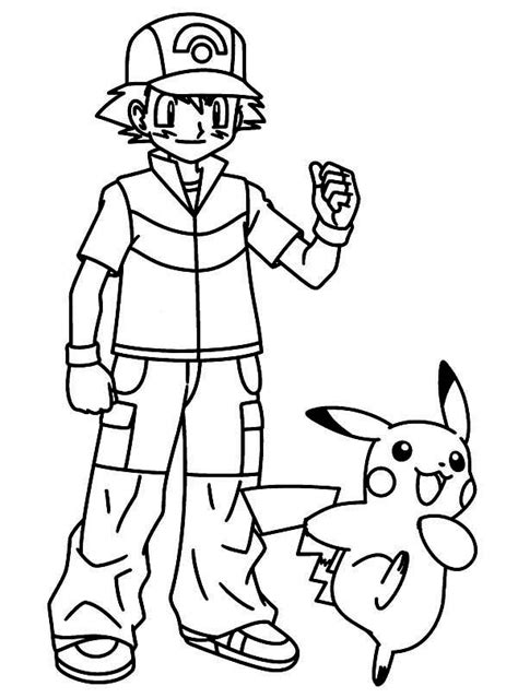 ash ketchum xy coloring pages coloring pages