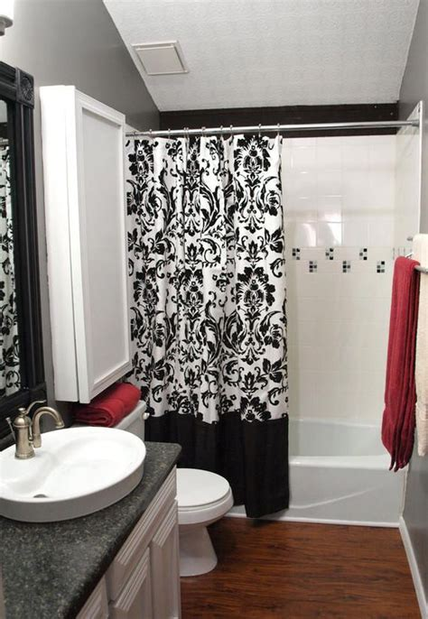 black white and red bathroom decorating ideas colorful bathroom design ideas