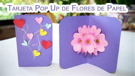 como hago una tarjeta para el da del amor y la amistad como hacer una tarjeta pop up de flores 3d de papel youtube