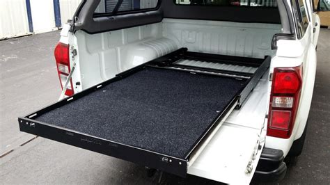 sliding bed multi purpose slide out cargo shelf tray for pick ups and