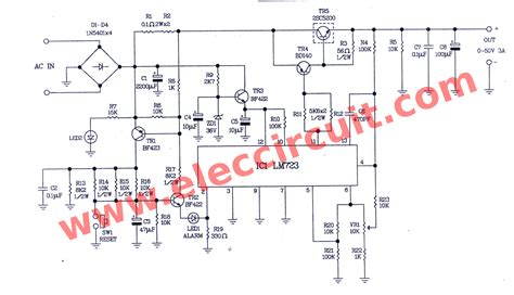 circuit diagram of variable power supply 0 50v variable power supply circuit at 3a