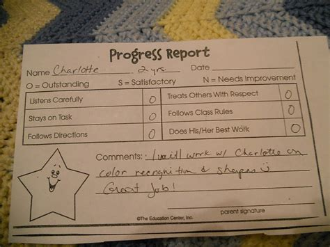 Report Card Up Letter Letters To S Report Card Preschool