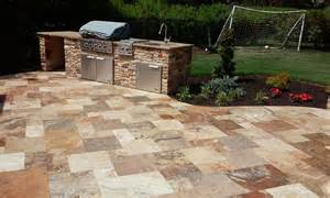 travertine outdoor patio sealing for travertine patio in syosset new york by