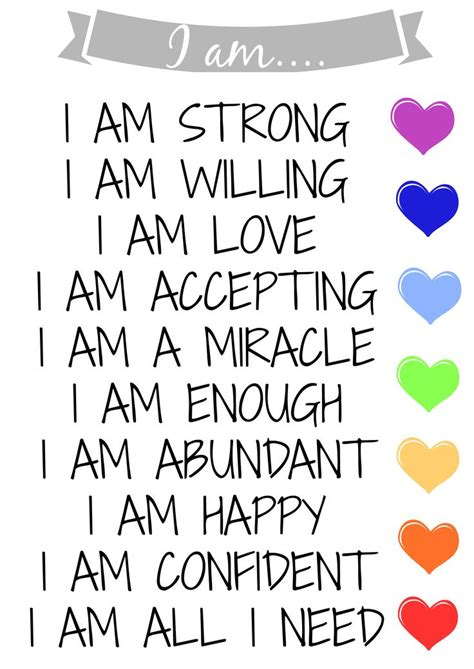 best 25 i am affirmations ideas on