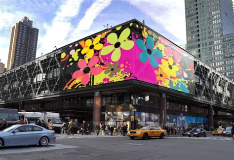 nyc port authority terminal now boasts world s largest led media facade pabt media facade