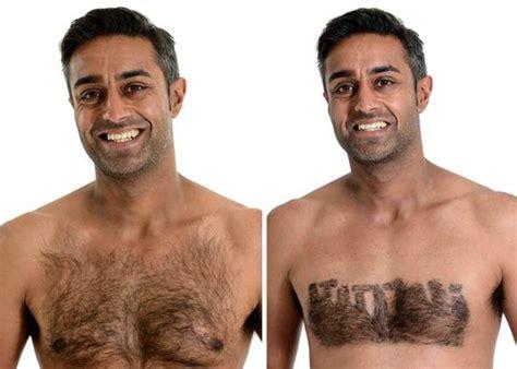 heart shape man scaping male shaving art body hair design shaving male models