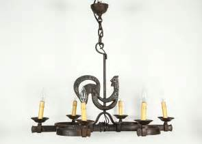 rooster chandelier wrought iron kitchen rooster chandelier with six