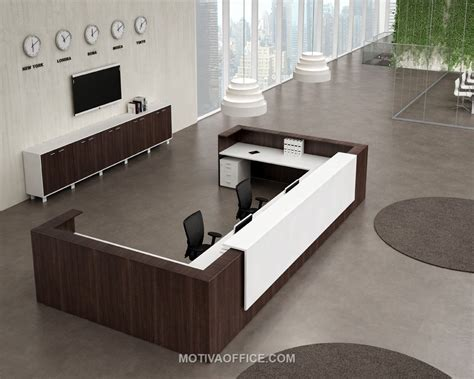 Modern Reception Furniture Motiva Office Reception Desk Modern