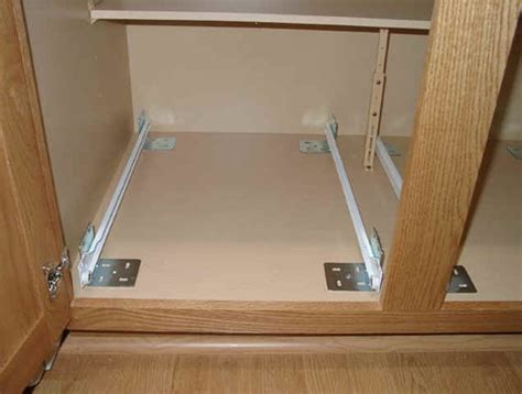 how to install kitchen cabinet drawer slides kitchen cabinets sliding drawer options