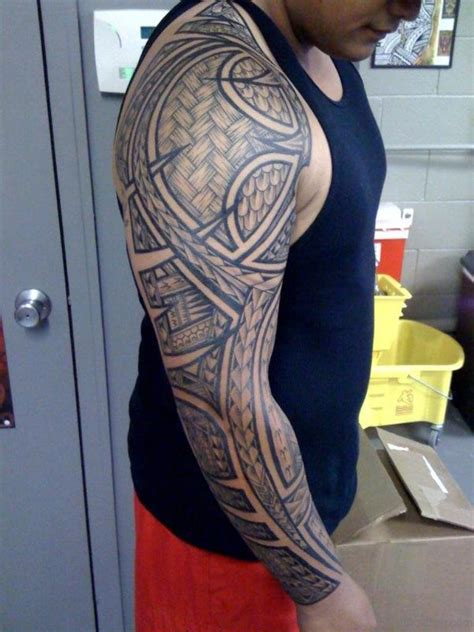 tribal full sleeve tattoos 56 maori designs on sleeve