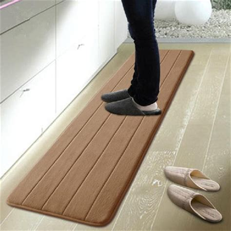 50 120cm memory foam washable kitchen rugs waterproof