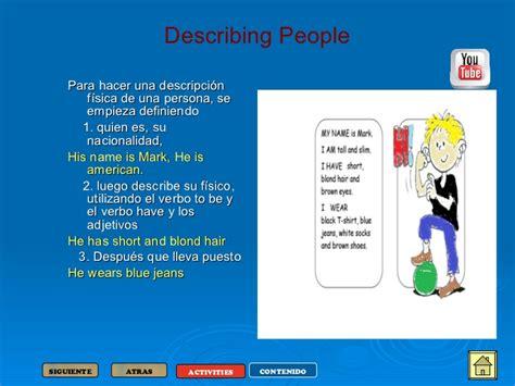 descripcion de imagenes en ingles ejemplos unidad de aprendizaje personal description