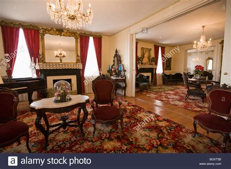the white house interiors first white house of the confederacy interior montgomery alabama stock photo