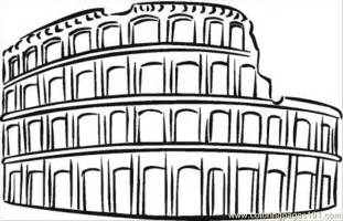 colosseum coloring free sightseeing coloring pages coloringpages101