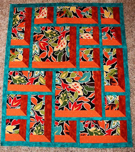 Window Pane Quilt by Twisted Log Cabin Block