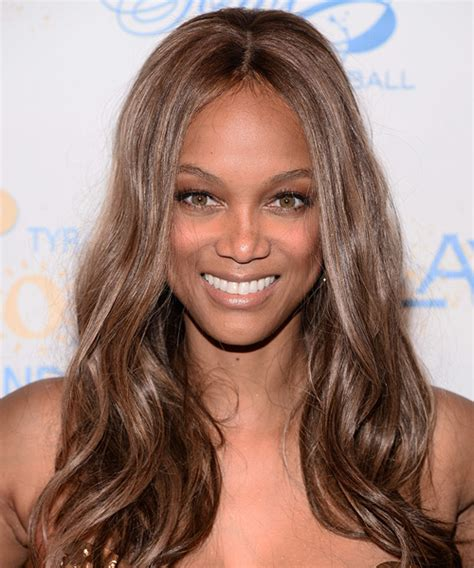 tyra banks with fringe bangs short hairstyle 2013 jenny mccarthy with a very straight bob hairstyle short