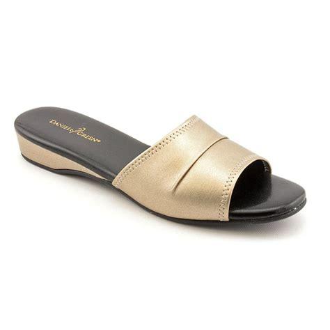 gold shoes size 13 daniel green dormie womens size 13 gold narrow open toe