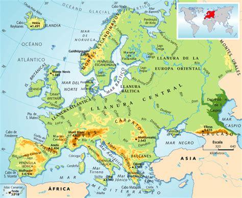 maps de europa rios mapa fisico de europa