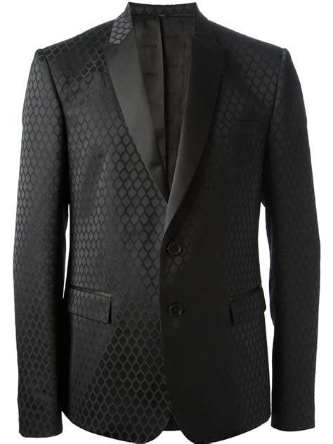 black pattern suit lyst just cavalli devore diamond pattern suit in black