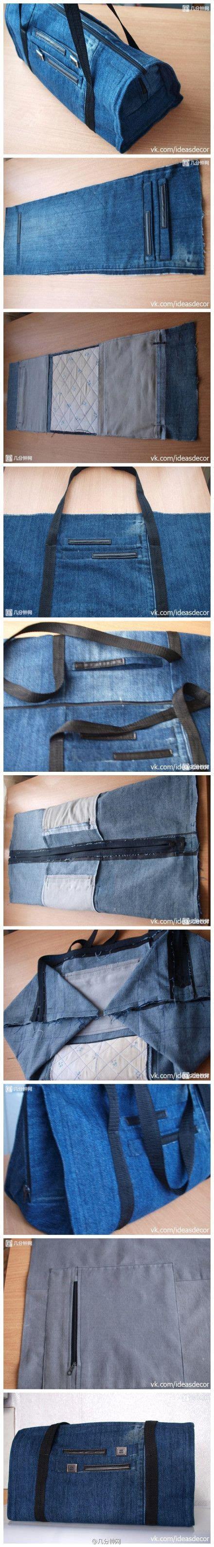 tutorial membuat tas jeans tutorial cara membuat tas dari baju celana bekas