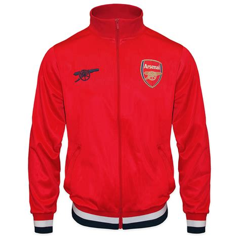 arsenal zip up jacket arsenal football club official soccer gift mens retro