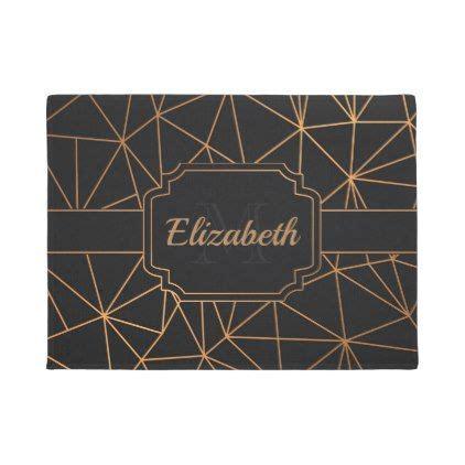 black golden mosaic doormat door mat personalized