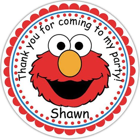 printable elmo stickers elmo sesame street personalized stickers party favor