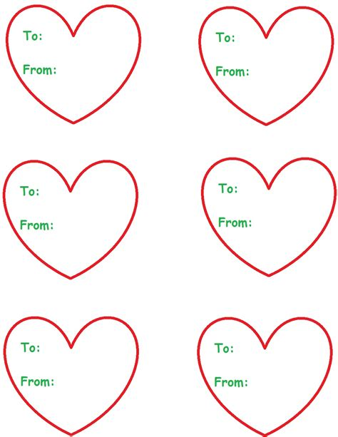 printable heart gift tags template gift tag new calendar template site