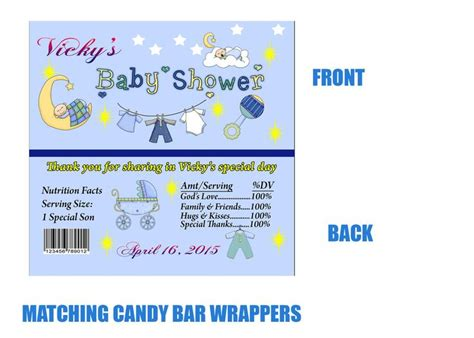 Free Printable Baby Shower Bar Wrappers by 25 Best Ideas About Baby Shower Invitation Templates On