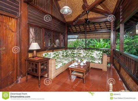 living room bali traditional and antique living room of bali villa stock photo image 50046975