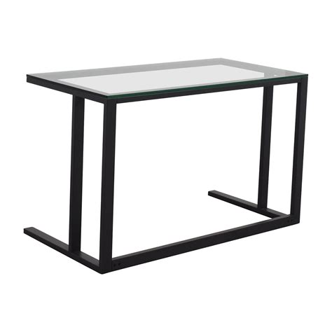 crate and barrel office desk 70 off crate and barrel crate barrel glass desk