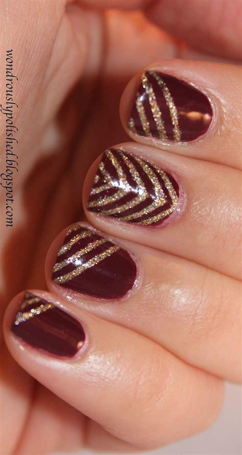 new year gel nail 1000 ideas about maroon nails on fall nail