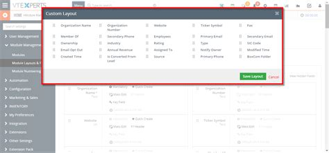 layout editor vtiger vtiger experts customize block into 5 columns layout in