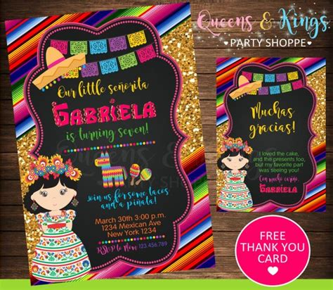 Mexican Party Mexican Invitation Fiesta Invitation Mexico Mexican Invitation Template