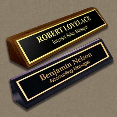 engraved desk name plates custom desk name plates personalized desk plate naag tag