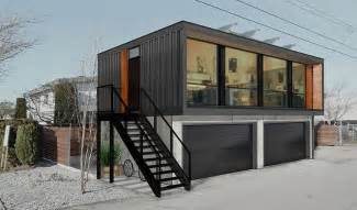 Small Homes With 2 Car Garage On Foundation by You Can Order Honomobo S Prefab Shipping Container Homes