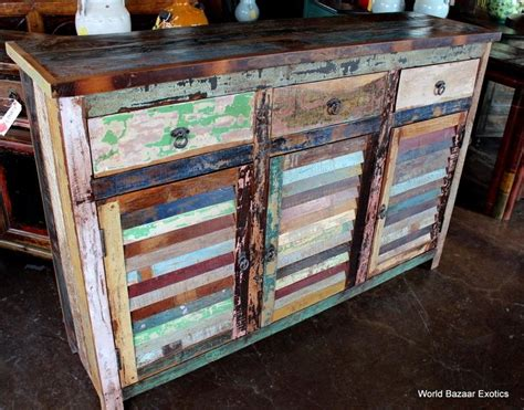 colored furniture distressed multi colored wood diy home colorful