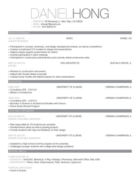 updated cv and work sle professional resume sle