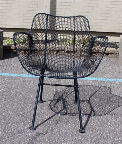 mid century modern woodard sculptura wrought iron patio set