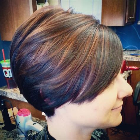 copper and brown sort hair styles short womens haircut chocolate dark brown hair color with