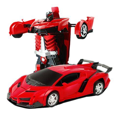 Tobot Car To Robot Robot To Car 16 Cm Merah transformation robots rc car sports car models remote deformation car rc robots