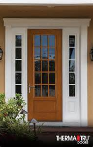 Therma Tru Exterior Doors Fiberglass 14 Best Images About Fiber Classic Oak Collection On Traditional Satin And Privacy
