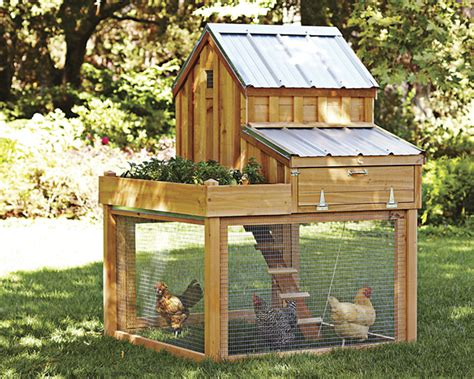Cedar Chicken Coop Run With Planter by Rad Raised Beds Fab Four Lifestyle