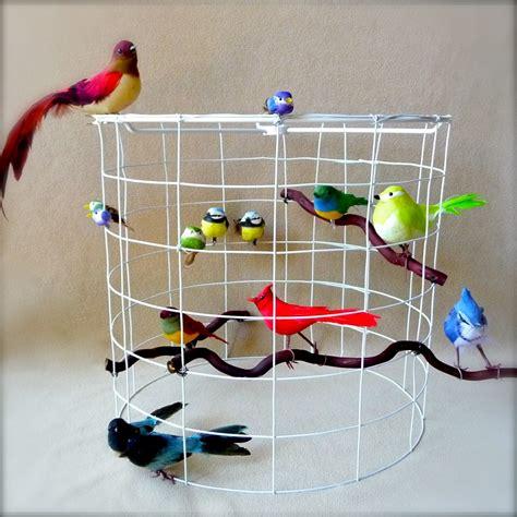 diy bird cage themed l shade craft organic