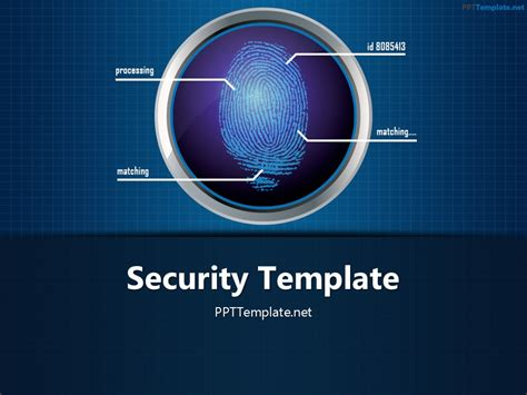 Free Finger Print Circle 1 Ppt Template Powerpoint Template For