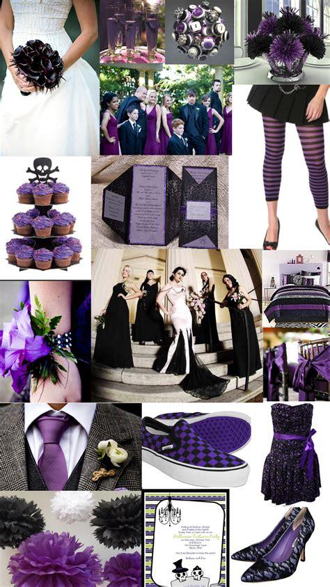 purple black  white wedding pics  diy