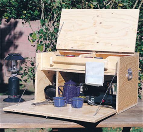 yard garden projects camp kitchen woodworking plans