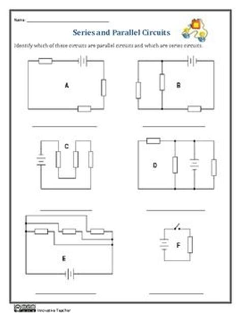 resistors in series and parallel worksheet series and parallel circuits worksheets educate