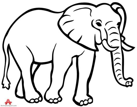 elephant outline coloring pages elephant outline elephant clipart outline jpg clipartix